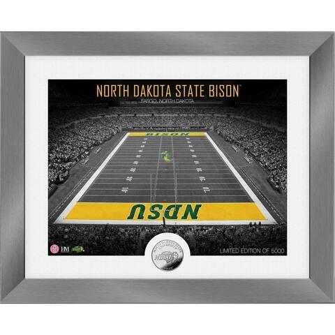 North Dakota State University Bison Art Deco Stadium Silver Coin Photo Mint - 13X16