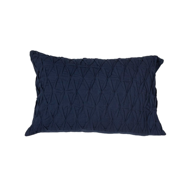 """20"""" Navy Blue Solid Rectangular Decorative Throw Pillow"""