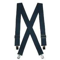 CTM® Men's Elastic Heavy Duty Basic Clip-End Work Suspender - One size