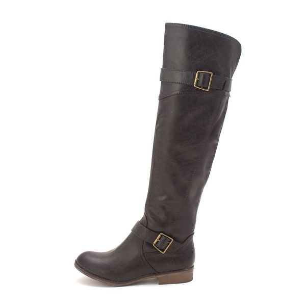 Just Fab Womens darlene Closed Toe Mid-Calf Fashion Boots