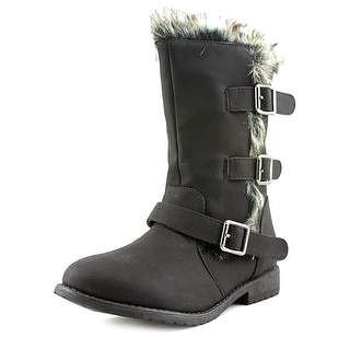 Kenneth Cole Reaction Allie Fur Round Toe Leather Winter Boot