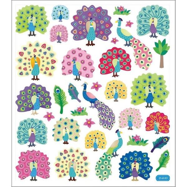 Multicolored Stickers-Peacock Splendor