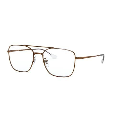Ray Ban RX6450 3083 54 Sanding Trasparent Brown Unisex Irregular Eyeglasses - White