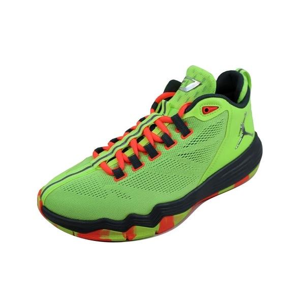 b6e85069c762 Nike Grade-School Air Jordan CP3 IX 9 AE BG Ghost Green Metallic Silver