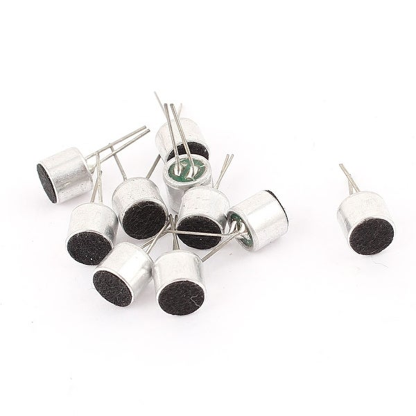 Unique Bargains 10 Pcs 6mm x 5mm Through Hole Mini Electret Microphone Condenser Pickup