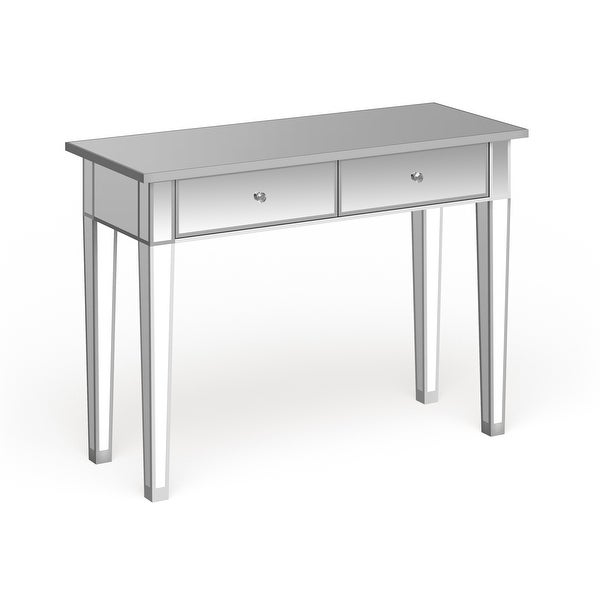 Silver Orchid Olivia Mirrored Accent Table. Opens flyout.