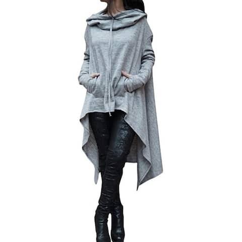 Women's Long Hooded Sweater