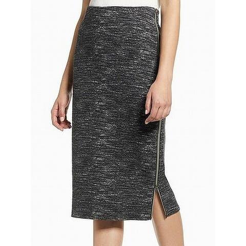 Halogen Gray White Womens Size PM Petite Space Dye Pencil Skirt