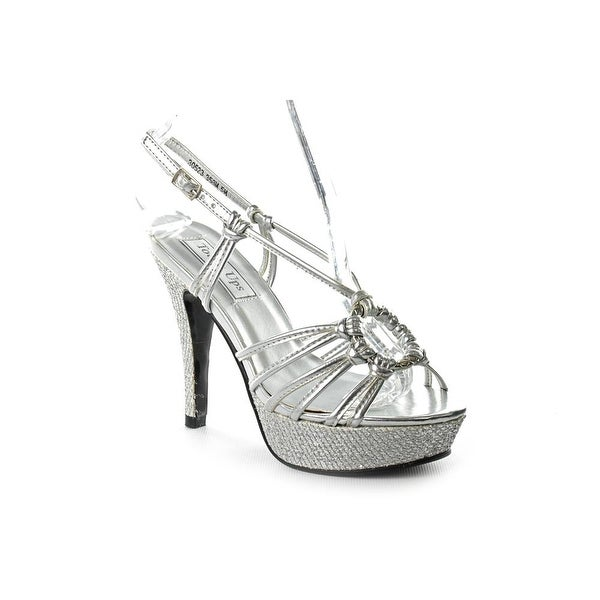 Touch Ups Cassidy Women Peep-Toe Synthetic Silver Slingback Heel