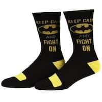 Batman Keep Calm and Fight On Crew Socks