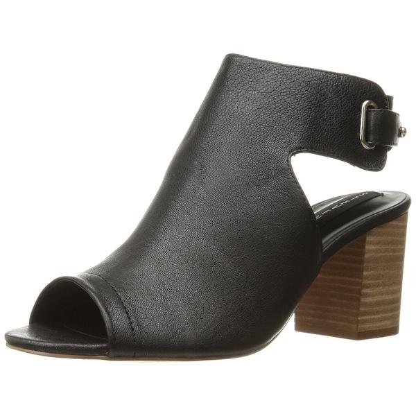 STEVEN by Steve Madden Womens Venuz Leather Open Toe Casual Slingback Sandals