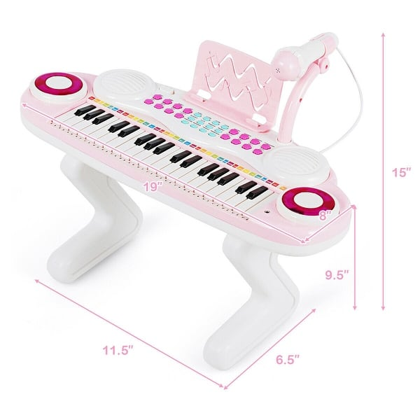 Gemini/_mall Piano for Kids 37 Key Multi-function Electronic Keyboard Piano Play Piano Organ with Microphone Musical Instrument Educational Toy for toddlers Kids Children Boys Girls Random Color