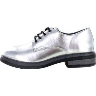 Seven Dials Womens Dev Closed Toe Oxfords (Option: 5 - silver/metallic)