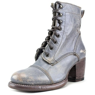 Bed Stu Oath Women Round Toe Leather Silver Ankle Boot