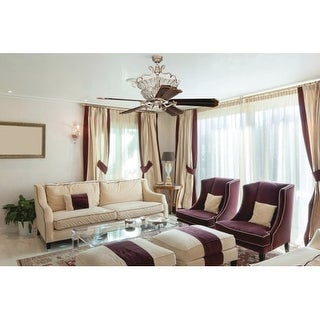 "Craftmade CR52 Cortana 52"" - 56"" 5 Blade Ceiling Fan - Remote and Uplight Included - Blade Selection Required"
