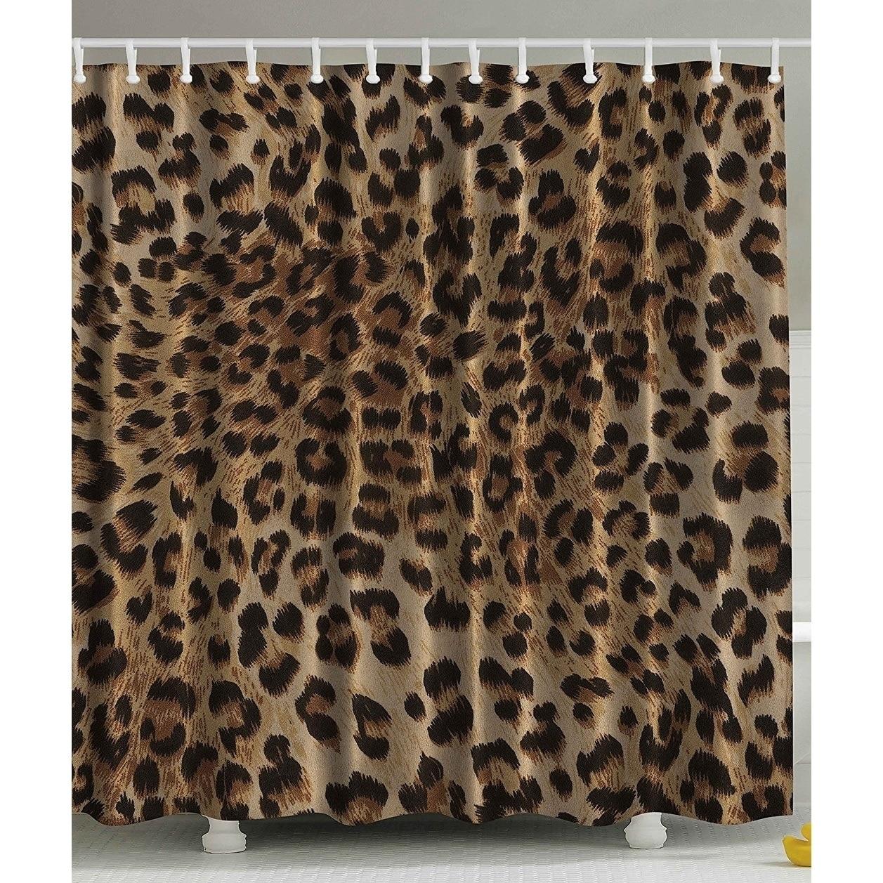 Leopard Print Y Shower Curtain