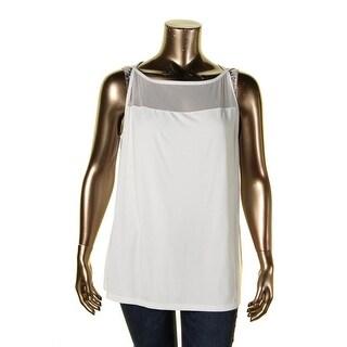 Lauren Ralph Lauren Womens Plus Tank Top Sleeveless Illusion