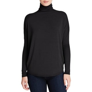 Vince Womens Pullover Top Micro Modal Mock Neck