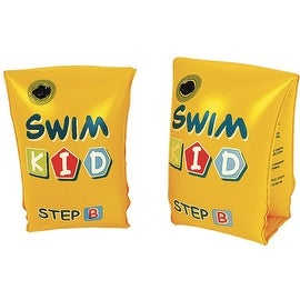 "Set of 2 Yellow Swim Kid ""Step B"" Inflatable Swimming Pool Arm Floats for Kids 3-6 Years"