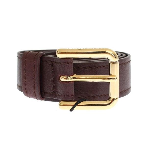 Dolce & Gabbana Purple leather belt