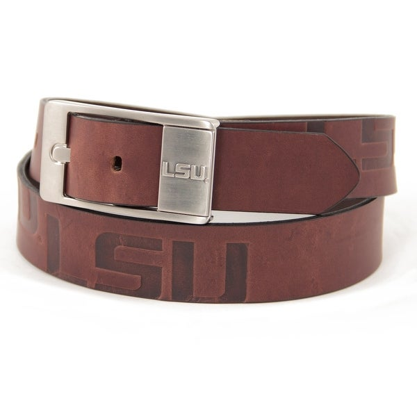 LSU Brandish Leather Belt