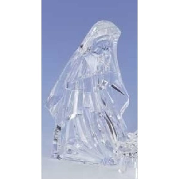 Icy Crystal Religious Holy Family Virgin Mary Christmas Nativity Figure Set