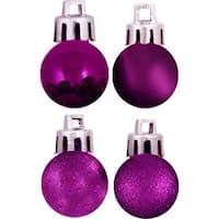 Vickerman N161006 Purple Acrylic Beaded Ball Ornament - 10 in.