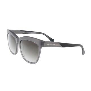 Balenciaga BA0067 20C Black/Silver Square Sunglasses - 59-15-140