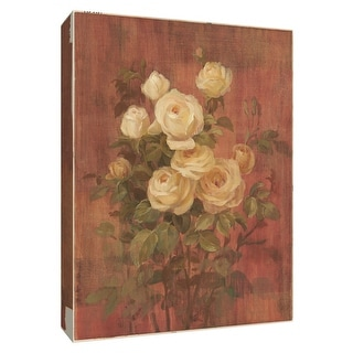 """PTM Images 9-154568  PTM Canvas Collection 10"""" x 8"""" - """"Peach Rose II"""" Giclee Roses Art Print on Canvas"""