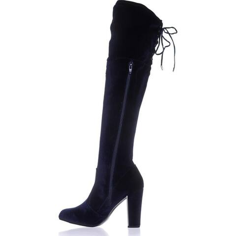 Material Girl Womens priyanka Closed Toe Knee High Fashion Boots