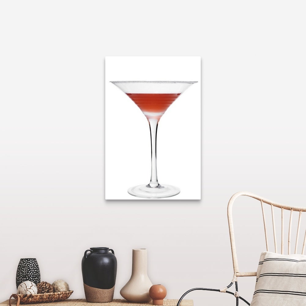 Cocktail On White Background Canvas Wall Art Overstock 16379716