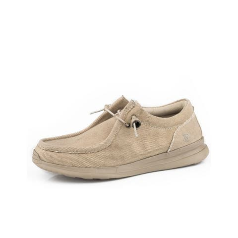 Roper Casual Shoes Mens Lace Chillin Low Tan