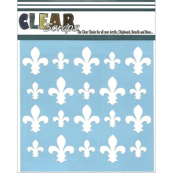 """Clear Scraps Stencils 6""""X6""""-Fleur De Lis"""