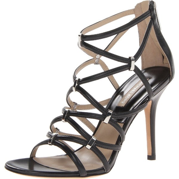 ede6bbd1ea Shop Michael Kors NEW Black Shoes Size 10M Strappy Leather Heels ...