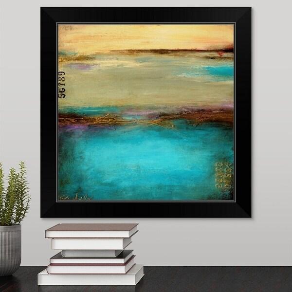 Erin Ashley Economy Framed Print with Standard Black Frame entitled Mystic Bay