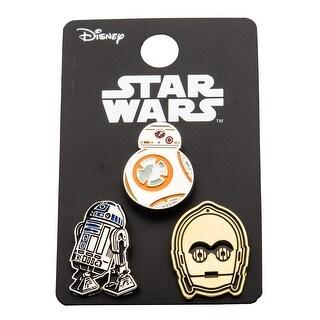 Star Wars Pin Pack: BB8, R2D2, C3PO - multi