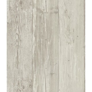 York Wallcoverings ZB3347 Wide Wooden Planks Wallpaper - N/A