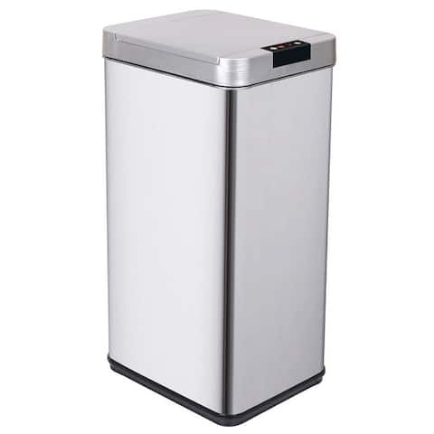 13 Gallon Stainless Steel Automatic Trash Can Kitchen Garbage Bin