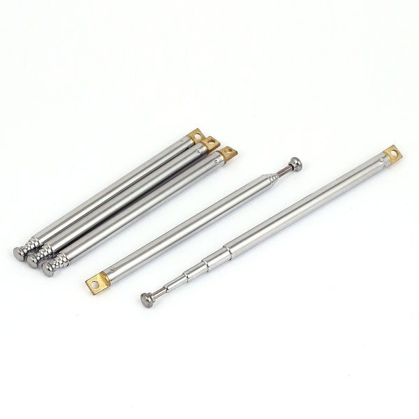 Unique Bargains 5pcs 10 26cm Long 5 Sections Telescopic Antenna Aerial Mast for RC Controller