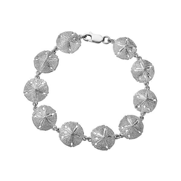 Kabana Sand Dollar Bracelet in Sterling Silver - White