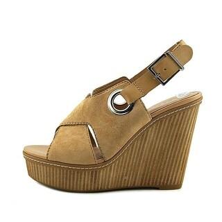 BCBGeneration Womens Penelope Leather Open Toe Casual Platform Sandals