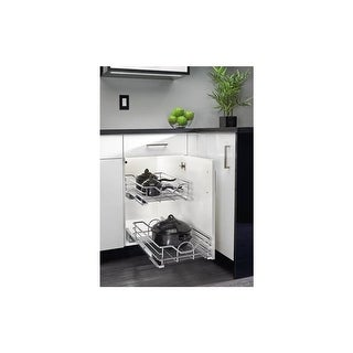 "Rev-A-Shelf 5730-15 5730 Series 15"" Wide Pull Out Base Cabinet Basket with Soft Close Slides - N/A"