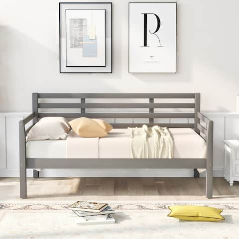 Wooden Daybed with Clean Lines Twin Size