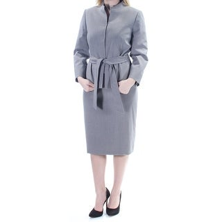 TAHARI Womens New 1099 Gray Belted Knee Length Pencil Skirt Suit 6 B+B