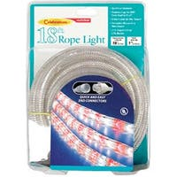 Celebrations Indoor/Outdoor Rope Light, 18 Feet, 216 Red & White Frost Lights