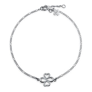 Bling Jewelry AYLLU We Love All Anklet Electroplated Sterling Silver 8in