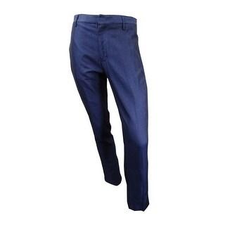 Calvin Klein Men's Slim Diamond-Pattern Dress Pants (Midnight Plum, 32x30) - midnight plum - 32x30