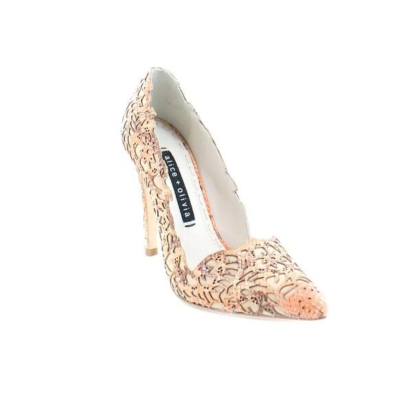 Alice + Olivia Dina Women's Heels Coral