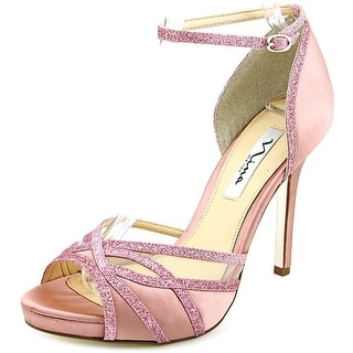Nina Kerstin Women Open Toe Canvas Pink Sandals