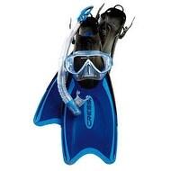 Cressi Unisex-Adult Palau Bag Mask Snorkel Fin Combo